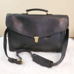 ***Coach Vintage Black Leather Morgan Briefcase